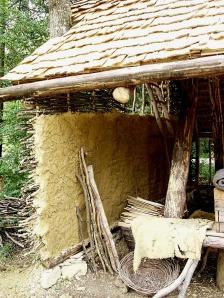 Rückwand Steinmetz-Hütte